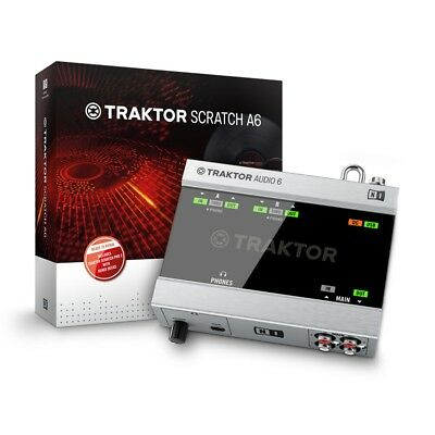 NATIVE INSTRUMENTS traktor scratch A6 pc/mac NUOVO con GARANZIA ITALIANA