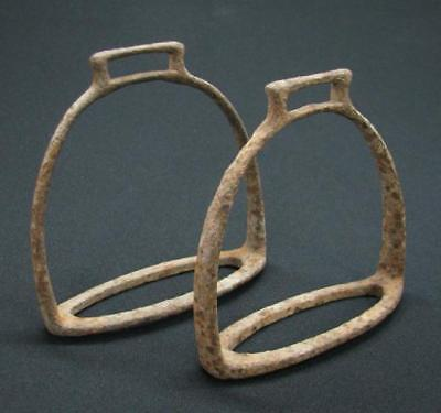 Rare Antique Pair Ottoman Horse Stirrups 18Th Century Period Turkey Iron See!
