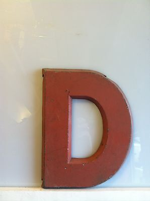 "Vintage Movie Theatre Marquee 8 1/2"" Red Metal Letters"