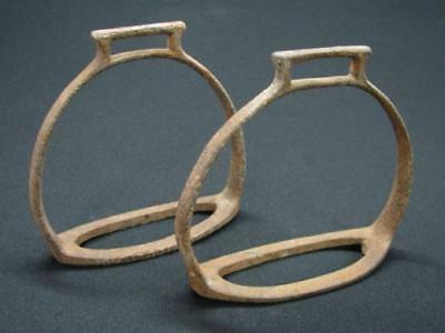 Rare Antique Pair Of Ottoman Horse Stirrups 18Th Century Period Turkey Iron