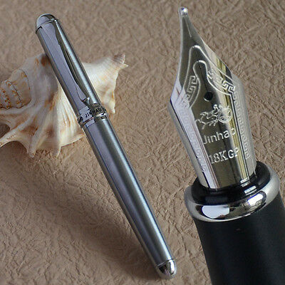 JINHAO X750 NOBLE COMPLETE STEEL BROAD NIB FOUNTAIN PEN