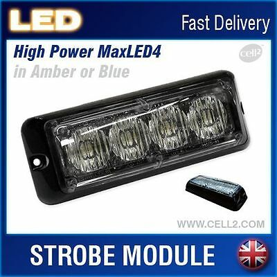 LED Emergecy Recovery Flashing Warning Light Strobe Lightbar Beacon 12~24V AMBER
