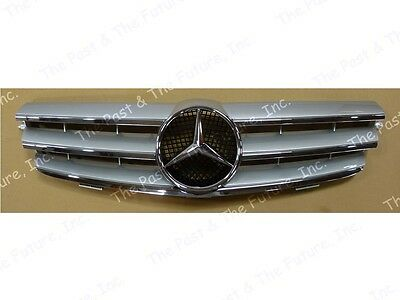 03 04 05 06 07 08 09 10 Mercedes Benz CLK Class W209 CL Grille Silver Grill
