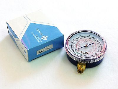 """Q.E. Blue (Low) 3"""" R-134A Replacement Gauge - 250 PSI (NEW)"""