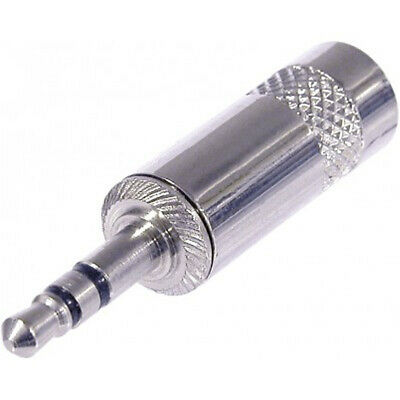 Neutrik Rean NYS231 3.5mm Mini Jack Plug Silver Stereo 3 pole