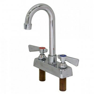 "4"" Deck Mount Faucet with 5"" Gooseneck Spout NSF"