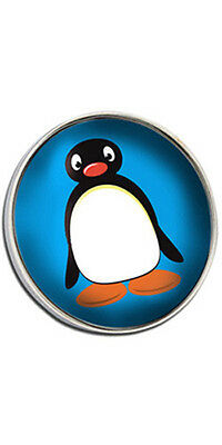 Pingu Style Clutch Pin Badge Choice of Gold/Silver