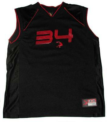 Boys High Performance Black Sleeveless Basketball Jersey L 10-12