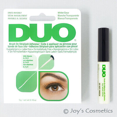 1 DUO Brush On Striplash Adhesive with Vitamins(Eyelash glue) White tone *Joy's*