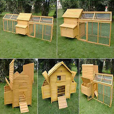 Hen House Chicken Coop Poultry Ark Home Nest Run Coup