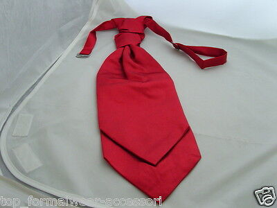 Mens Polyester Dark Red Scrunchie Ruche Wedding Tie - Cravat > P&P 2UK>1st Class