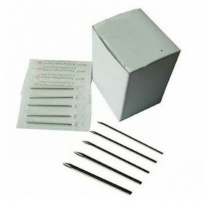 100 PC. Sterilized Body Piercing Needles (15G, 14G, 13G) - Wholesale Pricing