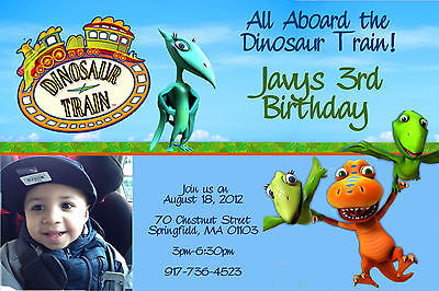 DINOSAUR TRAIN  BIRTHDAY PARTY  INVITATIONS 24hr Service UPRINT 4x6 or 5x7