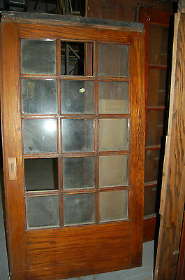 "Vintage Arts/craft 40""-44""  Oak  French  Door, Old Door,  Antique Door Salvage"