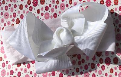 Baby Toddler Girls Headband Boutique WHITE Bow Clip
