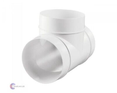 100mm 4 Inch TEE PIECE for Ventilation ducting systems
