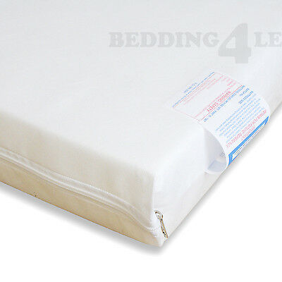 ALL SIZES Baby Cot Bed MATTRESS Breathable with PLAIN WATERPROOF COVER