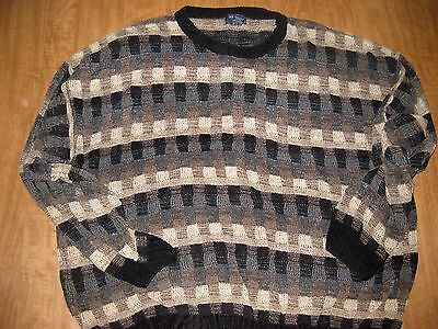 DOCKERS vtg sweater XXXL multi-color 3XL earthy tones pattern sedimentary rayon