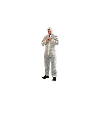 (Pack of 5)  Prochoice White Lightweight Disposable Durable Coverall