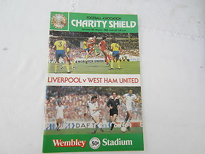 1980 CHARITY SHIELD LIVERPOOL v WEST HAM UNITED