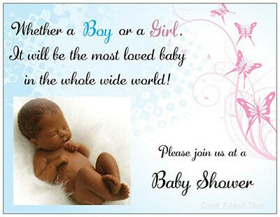 20 African American BABY SHOWER Invitations Boy Or Girl Cards Post CARDS