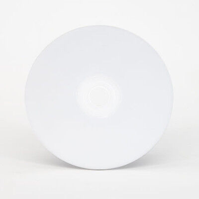 100 pcs  Blank 52X CD-R Blank Disc Media Inkjet white