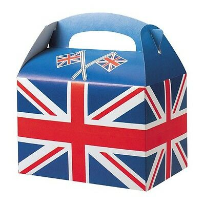250  X Union Jack Meal Party Box Kids Parties Jubilee Street Party