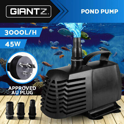 3000LPH Submersible Aqua Aquarium Fountain Pond Marine Water Pump Fish Tank Air