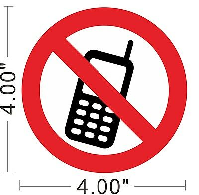 No Cell Phone No Mobile Phone Decal Vinyl Sticker Warning Safety Sign Store~A159