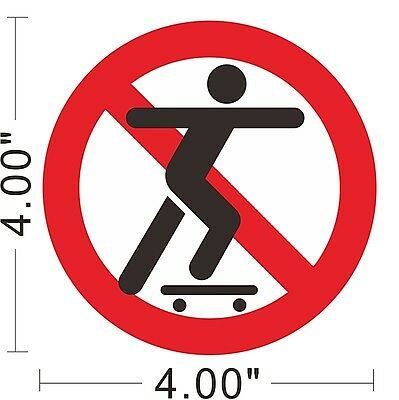 No Skateboarding Vinyl Sticker Warning Safety Sign Store Office Building ~A162