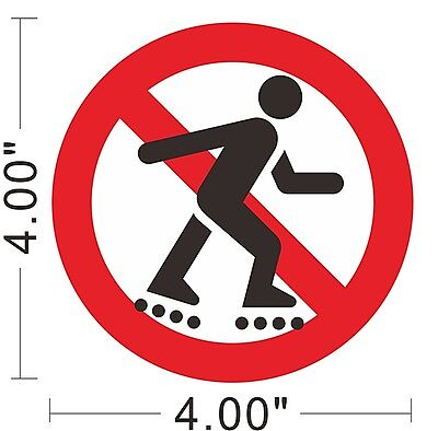 No Rollerblading Vinyl Sticker Warning Safety Sign Store Office Building ~A163