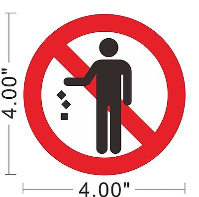 No Littering Trash Litter Sticker Warning Safety Sign Store Office Building~A167
