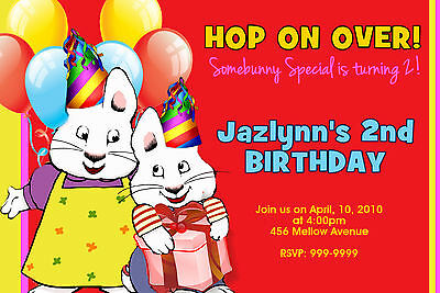 MAX & and RUBY BIRTHDAY PARTY  INVITATIONS 24hr Service UPRINT 4x6 or 5x7