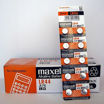 200 NEW LR44 MAXELL A76 L1154 AG13 357 SR44 303 BATTERY NEW Expiration 12/2020