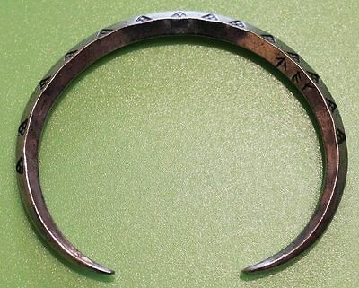 Viking Ring Money Pewter Bracelet - Norse - Hand Made, 7.5 inches (19cms)