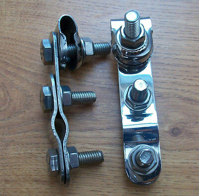"""Scooter  Stainless Steel Mirror Brackets 2"""" Pair Brand New"""