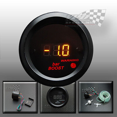 "Boost turbo gauge bar 2"" 52mm led display electric sender bracket dash mount fit"