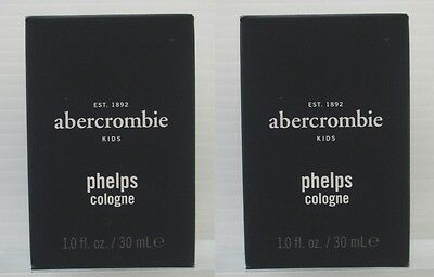 Lot Of 2 Brand New Abercrombie Kids Boys Phelps Cologne 1 Fl Oz / 30 Ml