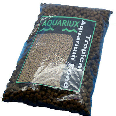 Aquariux premium tropical aquarium fish food pellets high grade sinking fishfeed