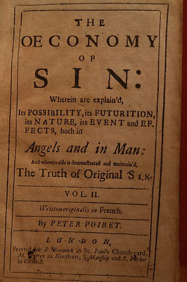 1700's The  ŒCONOMY OF SIN OECONOMY OF SIN VII Poiret early English Translation