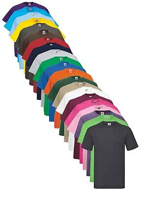 Fruit Of The Loom Plain Cotton Valueweight Tee T-Shirt to 4XL & 5XL XXXXXL