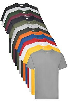Fruit Of The Loom Plain Cotton Heavy Weight Premium Tee T-Shirt Tshirt