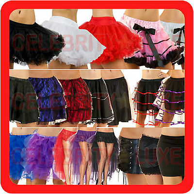 New Ladies Petticoat Tulle Tutu Long Skirt Fishtail Fancy Dress Costume Bridal