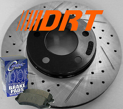 03-05 Dodge Neon SRT-4 Drilled Slotted Rotors Premium Pads Rear