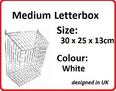 LETTERBOX CAGE Post/Door/Letter/Mail/Box/Guard WHITE Extra Medium