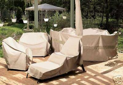 Small Oval Table & Chair Outdoor Patio Furniture Cover WITH HOLE FOR UMBRELLA