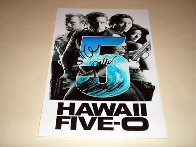 "Hawaii Five-O Castx4 Pp Signed 12""x8"" Poster Hawai 5-0"