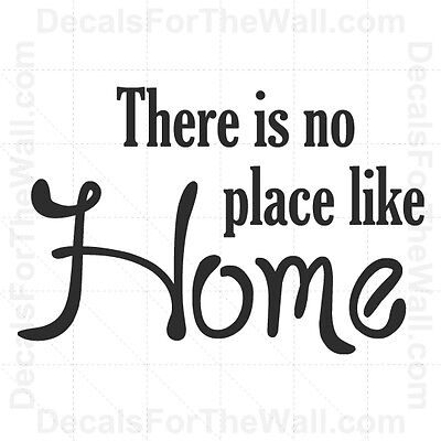 theres no place like home vinyl wall quotes decal quotesgram. Black Bedroom Furniture Sets. Home Design Ideas