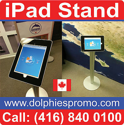 NEW Portable Exhibit iPad Stand Trade Show Info Station Pop Up Graphic Display