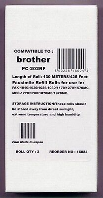 2-pack Fax Film Refill Rolls for your Brother 1020 1020E 1020-PLUS Fax Cartridge